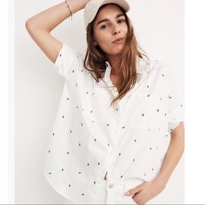 MADEWELL Cactus Embroidered Courier Shirt XS